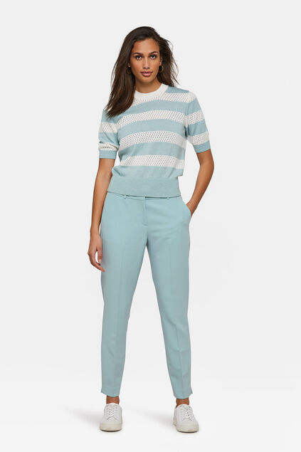 DAMES SLIM FIT PANTALON Pastelblauw