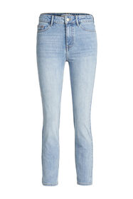 Dames high rise slim fit jeans met stretch_Dames high rise slim fit jeans met stretch, Lichtblauw