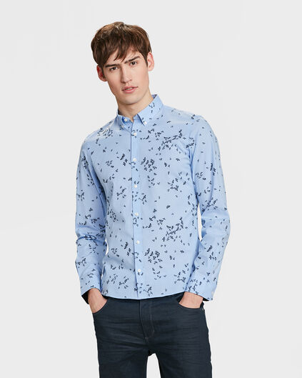 HEREN SLIM FIT PRINTED OVERHEMD Lavendel
