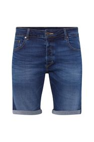 Heren regular fit denimshort_Heren regular fit denimshort, Blauw