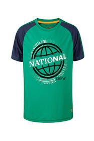 Jongens national print sport T-shirt_Jongens national print sport T-shirt, Groen