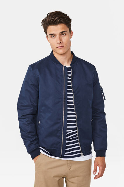 Heren bomberjacket Marineblauw
