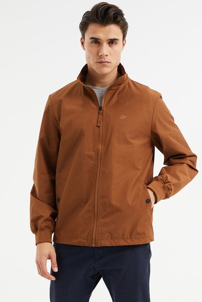 Blouson slim fit homme, Harrington Brun rouille