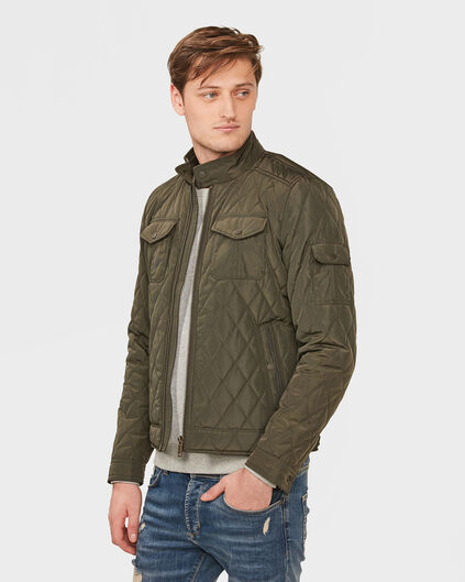 HEREN QUILTED JACKET Groen