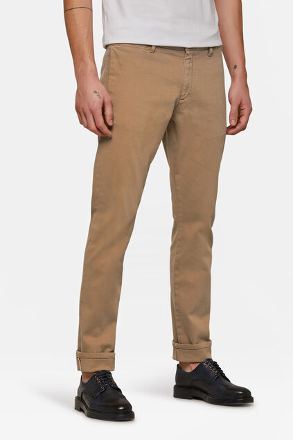 Jeans slim tapered selvedge homme Beige