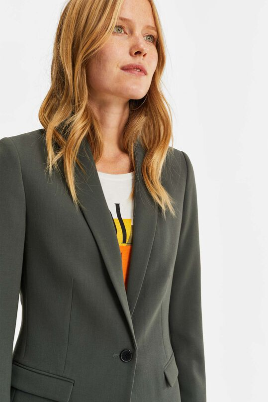 Dames regular fit blazer Grijsgroen