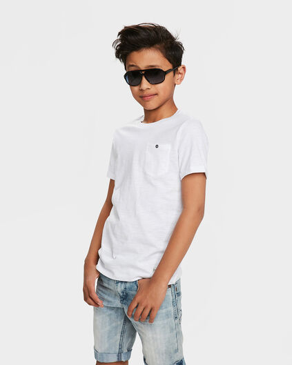 JONGENS ONE POCKET R-NECK T-SHIRT Wit
