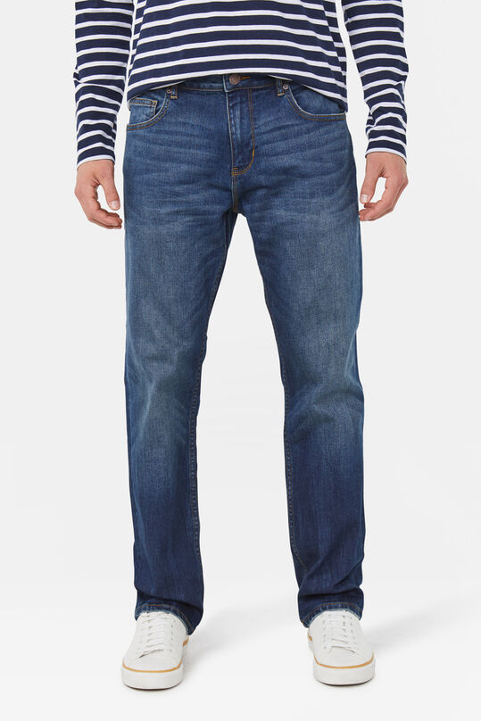 Heren relaxed tapered stretch jeans Donkerblauw