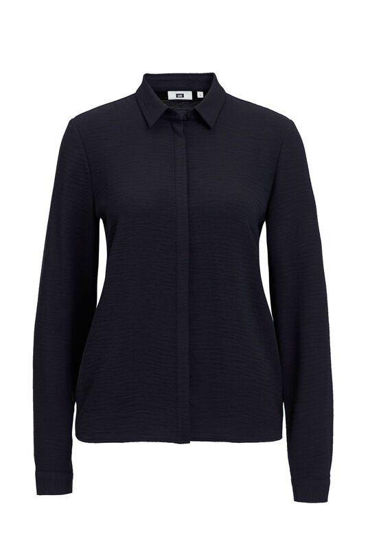 Dames solid blouse Donkerblauw