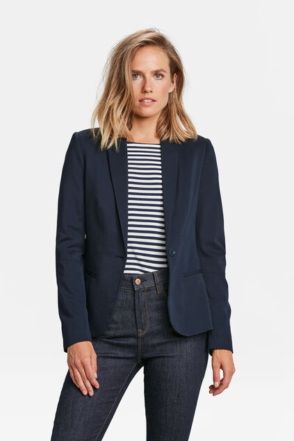 Dames regular fit jersey blazer Donkerblauw