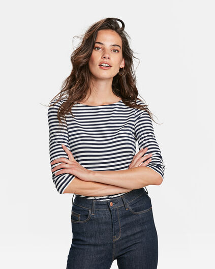 DAMES STRIPED SHIRT Donkerblauw