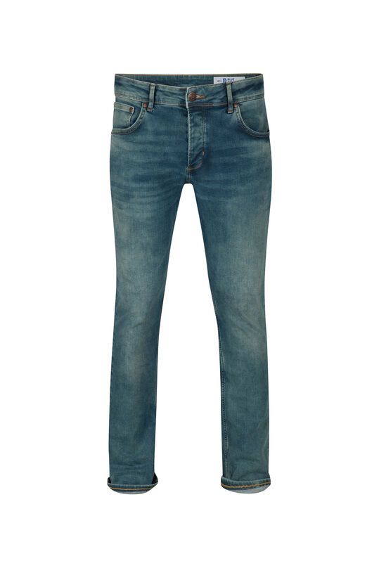 Jeans slim tapered stretch homme Vert mousse