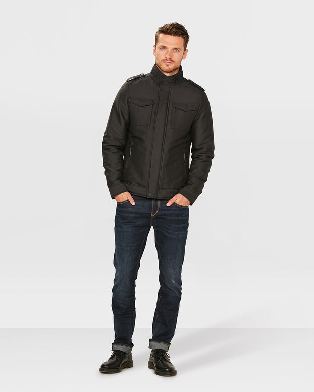HEREN CARGO JACKET Zwart