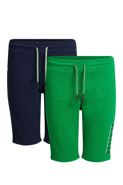 Short de jogging slim fit garçon, pack de 2 Vert