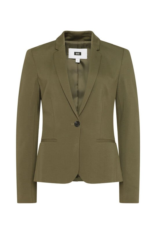 Dames regular fit blazer Legergroen