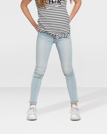 JEGGING SUPER SKINNY POWER STRETCH FILLE Bleu eclair