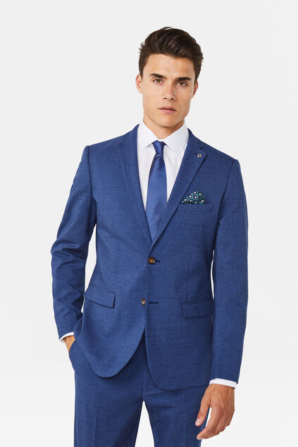 Heren regular fit blazer Benjamin Marineblauw
