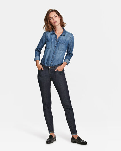 DAMES MID RISE SKINNY HIGH STRETCH JEANS Indigo