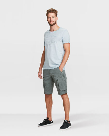 BERMUDA TAPERED RELAXED FIT CARGO HOMME Vert gris