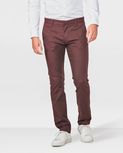 HEREN SLIM FIT MELANGE CHINO Bordeauxrood