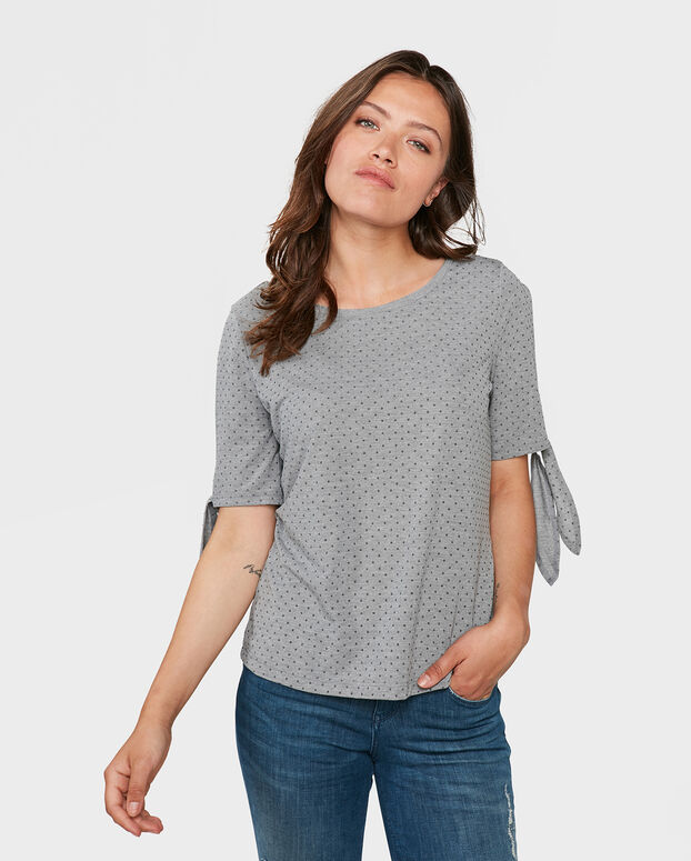 DAMES SCHOULDER DETAIL TOP Grijs
