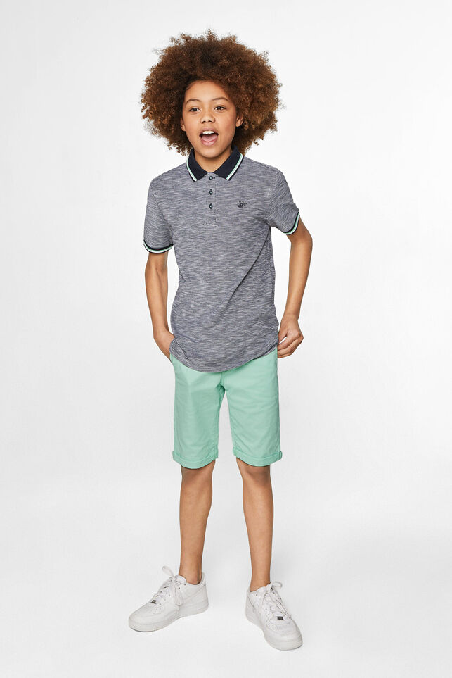 Jongens slim fit chino short Groen
