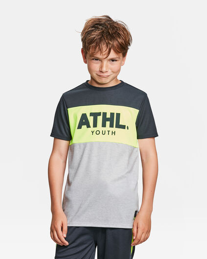 JONGENS ATHLETIC PRINT T-SHIRT Lichtgrijs