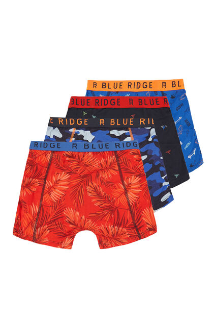 Jongens 4-pack boxershorts All-over print