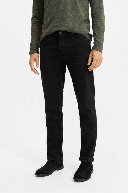 Jeans relaxed fit super stretch homme Noir