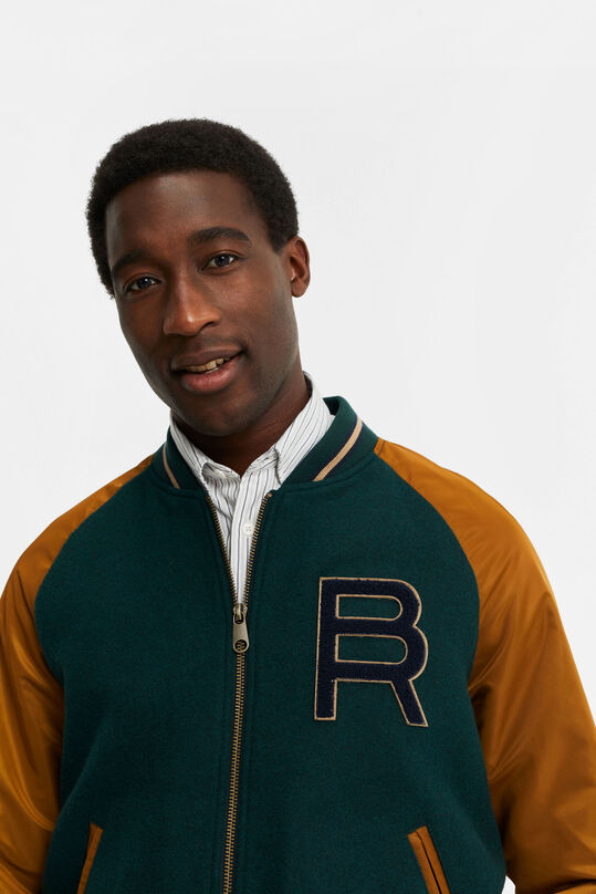 Heren baseball bomber jacket Groen