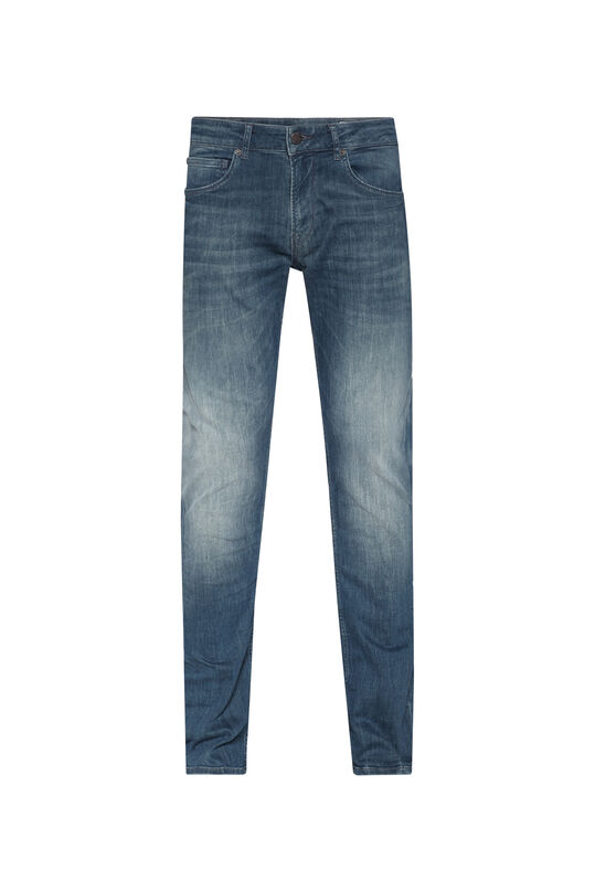 Heren regular straight super stretch jeans Grijsblauw