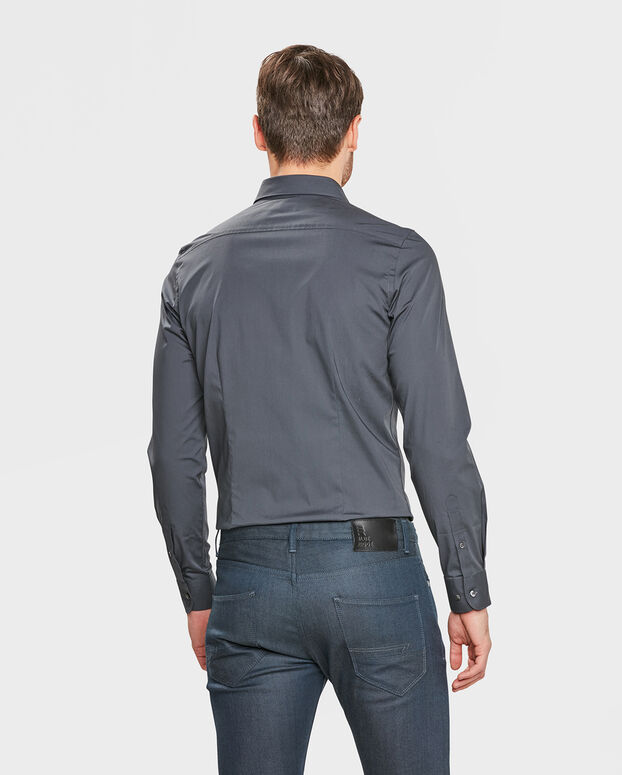 Donkergrijs Overhemd.Heren Tall Fit Stretch Overhemd 79874113 We Fashion