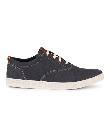 HEREN CANVAS SNEAKER Marineblauw