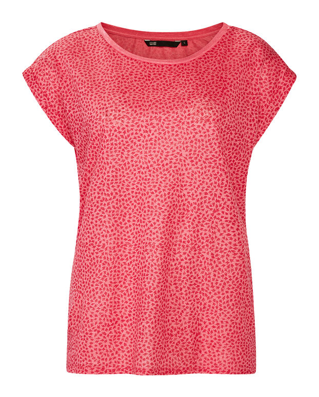DAMES LINEN GRAPHIC DESSIN T-SHIRT Roze