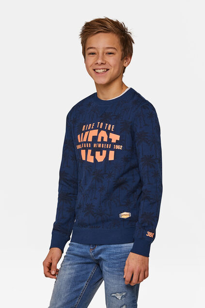 Jongens Ride sweater Indigo