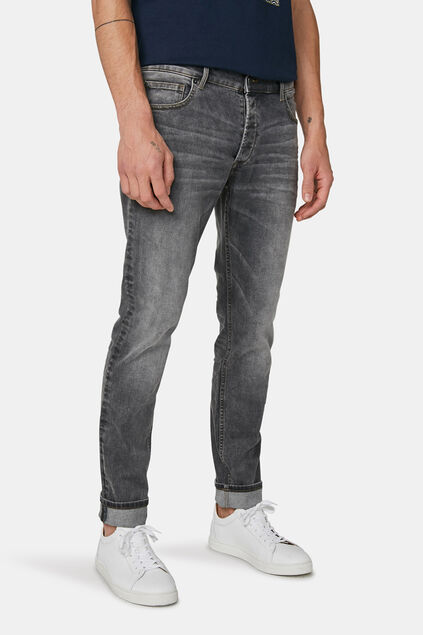 Jeans slim tapered super élastique homme Gris