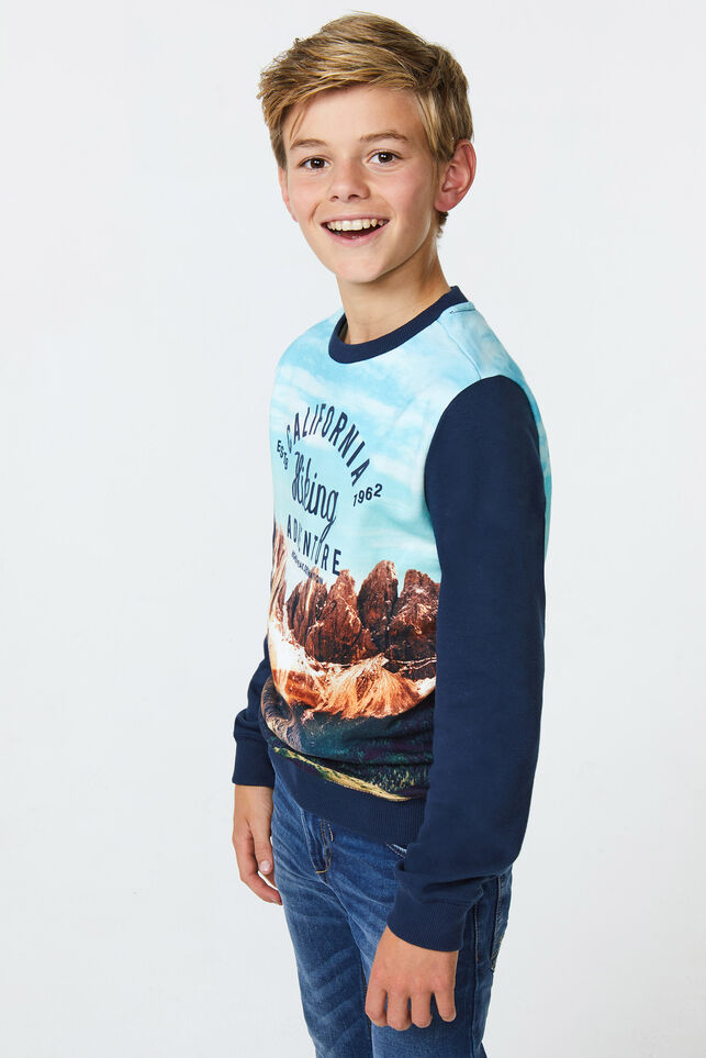 Jongens california sweater Marineblauw