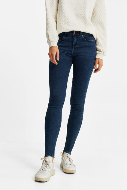 Dames super skinny jeans met super stretch Donkerblauw