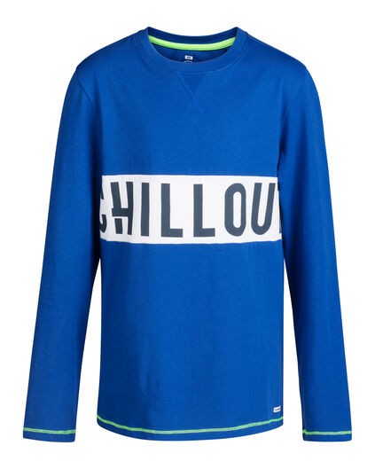 JONGENS CHILL OUT PRINT PYJAMASET Kobaltblauw