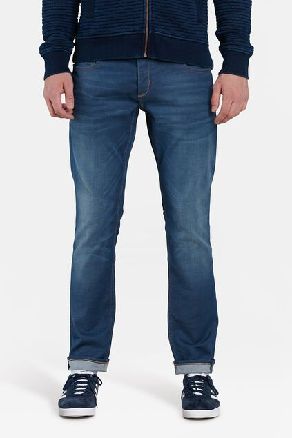 JEANS SLIM TAPERED STRETCH HOMME Bleu