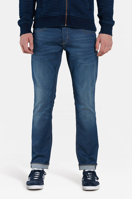 HEREN SLIM TAPERED STRETCH JEANS Blauw