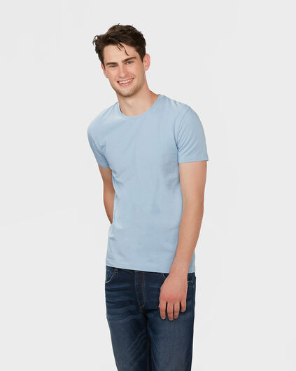 HEREN R-NECK T-SHIRT IJsblauw