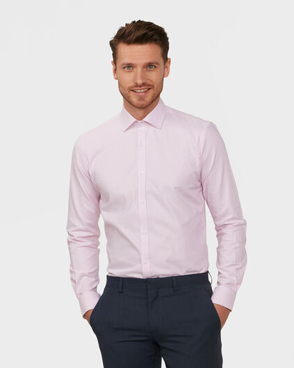 HEREN SLIM FIT FINEST COTTON OVERHEMD Roze