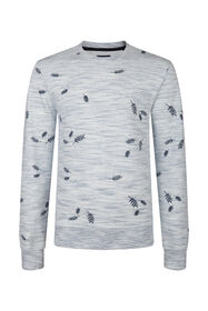 Heren dessin sweater_Heren dessin sweater, Wit