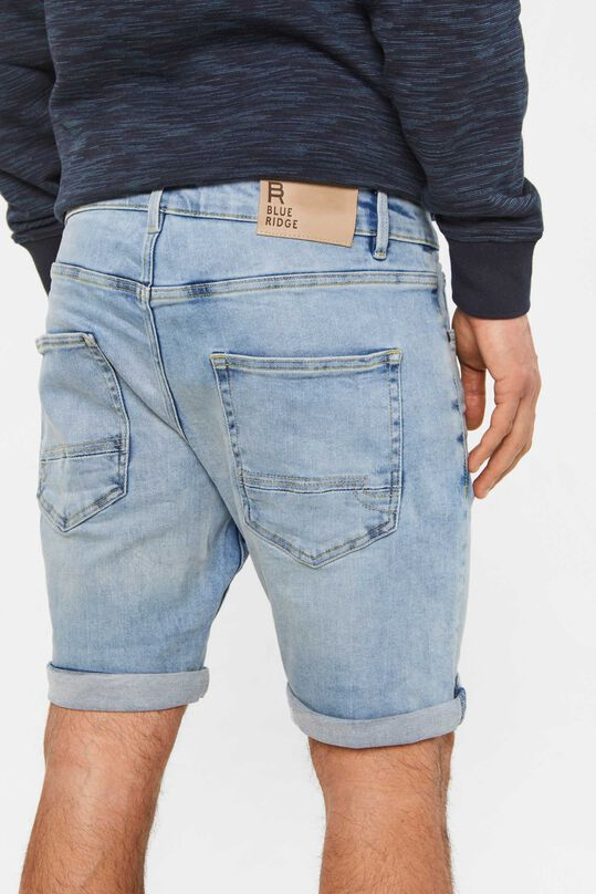 Heren regular fit denimshort Lichtblauw
