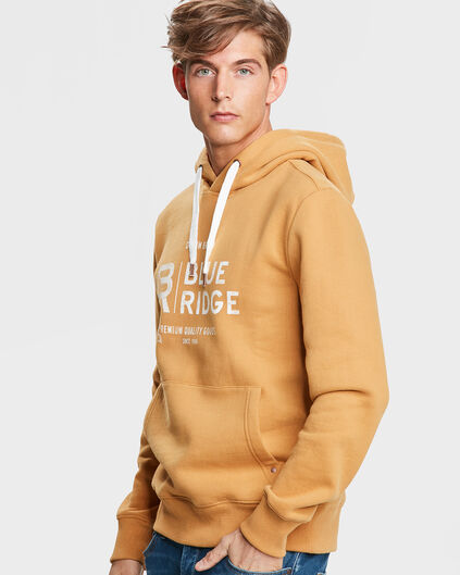 HEREN BLUE RIDGE HOODED SWEATER Mosterdgeel