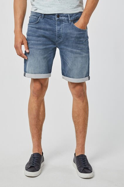 Short jog denim regular fit homme Bleu