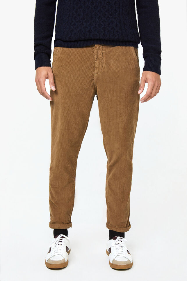 Chino loose fit de velours côtelé homme Beige