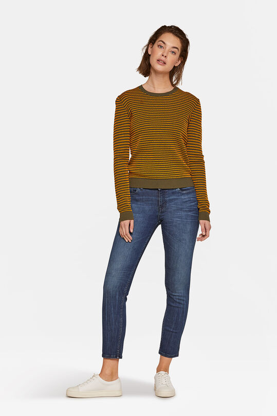Dames mid rise slim super stretch jeans Donkerblauw