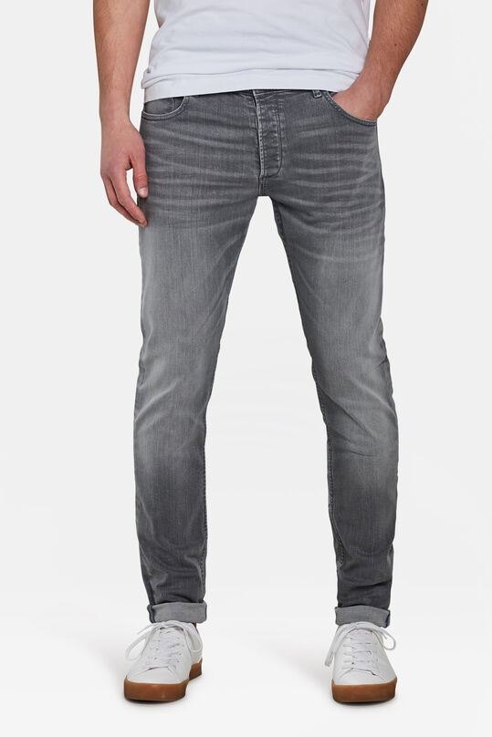 HEREN SKINNY FIT TAPERED JEANS Grijs